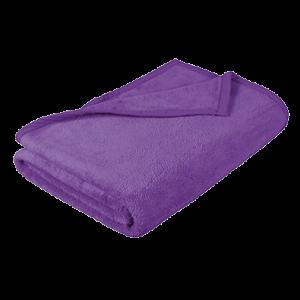 deka z mikrovlákna fialová