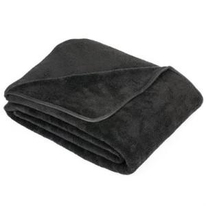 deka z mikrovlákna a mikroplyše černá
